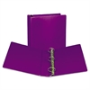 "Samsill Fashion View Binder, Round Ring, 11 x 8-1/2, 2"" Capacity, Purple, 2/Pack"