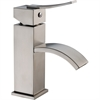 Dawn® AB78 1258BN Single-lever square lavatory faucet, Brushed Nickel (Standard pull-up drain with lift rod D90 0010BN included)
