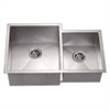 Dawn® DSQ311815R Undermount Double Bowl Square Sink (Small Bowl on Right)