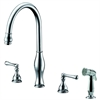 Dawn® AB08 3156C 3-Hole, 2-handle widespread kitchen faucet with side spray, Chrome