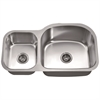 ASU107L Undermount Double Bowl Sink (Small Bowl on Left)