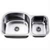 Dawn® ASU107R Undermount Double Bowl Sink (Small Bowl on Right)
