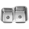 Dawn® ASU108L Undermount Double Bowl Sink (Small Bowl on Left)