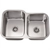 Dawn® ASU108R Undermount Double Bowl Sink (Small Bowl on Right)