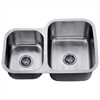 Dawn® ASU110L Undermount Double Bowl Sink (Small Bowl on Left)