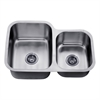 ASU110R Undermount Double Bowl Sink (Small Bowl on Right)