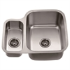 Dawn® ASU111L Undermount Double Bowl Sink (Small Bowl on Left)