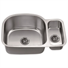 Dawn® ASU112R Undermount Double Bowl Sink Small Bowl on Right
