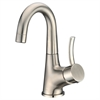 AB39 1170BN Single-lever lavatory faucet, Brushed Nickel (Standard pull-up drain with lift rod D90 0010BN included)