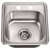 Dawn® BST1515 Top Mount Single Bowl Bar Sink with 2 Holes