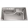 Dawn® CH368 Top Mount Single Bowl Sink with 3 Holes