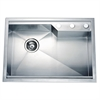DSQ2417 Dual Mount Square Single Bowl Sink with Rear Corner Drain & 3 Holes