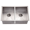 Dawn® DSQ271616 Undermount Equal Double Square Sink