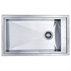 Dawn® DSQ2917 Dual Mount Single Bowl Square Sink with Drain & 2 Holes on Side