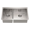 Dawn® DSQ301515 Undermount Double Bowl Square Sink (Small Bowl on Left)
