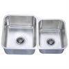Dawn® DSU301916R Undermount Double Bowl Sink (Small Bowl on Right)