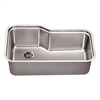 Dawn® DSU3118 Undermount Single Bowl Sink With Side Drain