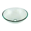 Dawn® GVB84007 Tempered glass vessel sink-round shape, clear glass