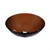 Dawn® GVB84010RD Tempered glass vessel sink-round shape, brown glass