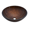 Dawn® GVB86088-1R Tempered glass, hand-painted glass vessel sink-round shape, brown