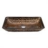 Dawn® GVB86153-1 Tempered glass, hand-painted glass vessel sink-retangular shape, Bronze