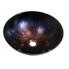 Dawn® GVB86167 Tempered glass, hand-painted glass vessel sink-round shape, Dark Violet