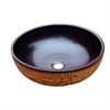 GVB87019 Ceramic, hand engraved and hand-painted vessel sink-round shape