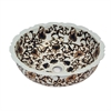 Dawn® GVB87388 Ceramic, hand engraved and hand-painted vessel sink-round shape