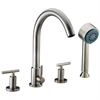 Dawn® D16 2503BN 4-hole Tub Filler with Personal Handshower and Lever Handles