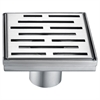 "LAN050504 Amazon River Series - Square Shower Drain 5""L (Stamping technique & press in the base)"