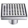 "LBE050504 Brisbane River Series - Square Shower Drain 5""L (Stamping technique & press in the base)"