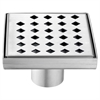 """LMI050504 Mississippi River Series - Square Shower Drain 5""""L (Stamping technique & press in the base)"""