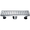 "LMI120304 Mississippi River Series - Linear Shower Drain 12""L"