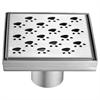 "LMU050504 Memuru River Series - Square Shower Drain 5""L (Stamping technique & press in the base)"