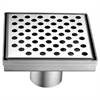 "LRE050504 Rhone River Series - Square Shower Drain 5""L (Stamping technique & press in the base)"