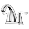 "AB04 1273C 2-hole, 2-handle centerset lavatory faucet for 4"" centers, Chrome (Standardpull-up drain with lift rod D90 0010C included)"