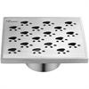 """SMU050504 Memuru River Series - Square Shower Drain 5""""L"""