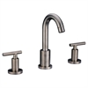 AB16 1513BN 3-hole, 2-handle widespread lavatory faucet, Brushed Nickel (Standard pull-up drain with lift rod D90 0010BN included)
