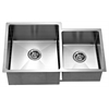 Dawn® XSR311816R Undermount Extra Small Corner Radius Double Bowls (Small Bowl on Right)