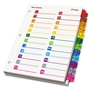 Cardinal OneStep Printable Table of Contents/Dividers, 52-Tab, 11 x 8 1/2, Multicolor