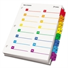 Cardinal OneStep Printable Table of Contents/Dividers, 32-Tab, 11 x 8 1/2, Multicolor
