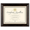 DAX Genova Document Frame, 8 12/ x 11, Plastic, Black