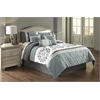 Aria 7 pc King Comforter Set, Blue/Gray