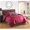 HALLMART Arianne Red Circles 5 pc King Comforter Set, RED