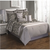 Augustus 9 pc Queen Comforter Set, Platinum