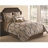 Branson 9 pc Queen Comforter Set, Tan/Multi