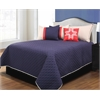 Collin 3 pc Twin Coverlet Set, Red/Blue/Sand