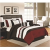 Ethan 7 pc Queen Comforter Set, Red/Brown