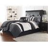 Hartford 7pc Queen Comforter Set, Black/Gray