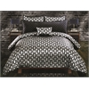 Kate 5 pc King Comforter Set, Graphite/Black